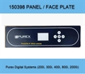150398 PUREX,Panel, Faceplate, Front Blue Control Panel Fascia for Purex Digital Systems (200i, 300i, 400i, 800i, 2000i)