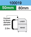 100019, Purex Connection Kit ,50mm x80 mm x 2.0m. legnth. Engraving Kit, Fume Extractor, Base to Laser