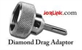 "Adaptor, Diamond Drag Assembly 120 Deg. with a 1/8"" x 1"" Diamond"