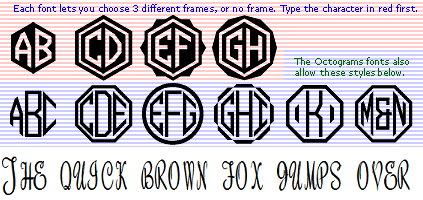 Fonts, Monogram Fonts True Type for Windows or Mac